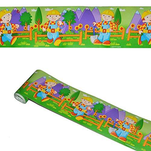 alles-meine.de GmbH 5 m Bordüre / Wandtattoo - selbstklebend -  Bob der Baumeister  - Wandsticker Aufkleber Kinderzimmer - Baustelle - für Jungen Borte Wandbordüre Tapetenbordü..