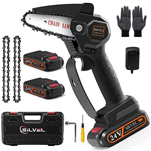 Upgraded Mini Chainsaw, 20V 4Inch Mini Chainsaw...
