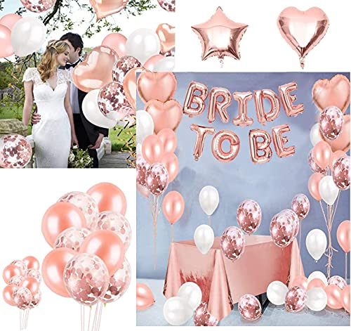 Addio al Nubilato Sposa da Essere Decorazioni per Bachelorette Party Accessori,Palloncini in Oro Rosa per Hen Notte Feste