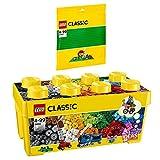 LEGO Classic 2er Set 10696 10700 Bausteine-Box + grüne Grundplatten