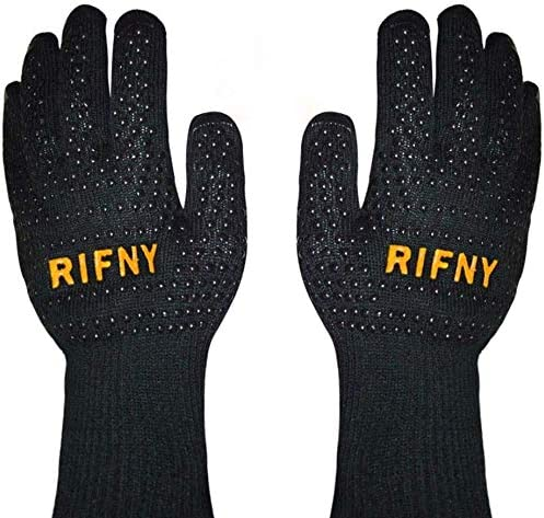 RIFNY BBQ Gloves Grill Gloves Protect to 1472 F Extreme Heat Resistant Fireproof Barbecue Oven product image