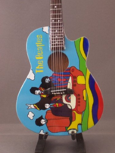 Mini Acoustic Guitar BEATLES YELLOW SUBMARINE Display GIFT