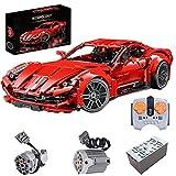 HEDI Maqueta de coche deportivo para Ferrari F12 de carreras 1:10 con bloques de construcción compatibles con Lego