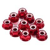 Hex Auto-Lock Noci, 10 Pezzi M5 Dado di Bloccaggio in Alluminio CNC Dado Flangiato Nylon A...