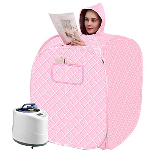 Indoor Sauna Portable Steam Sauna Spa for Home Weight Loss,Slimming Body,Detox,Relieve Stress Fatigue,Pink