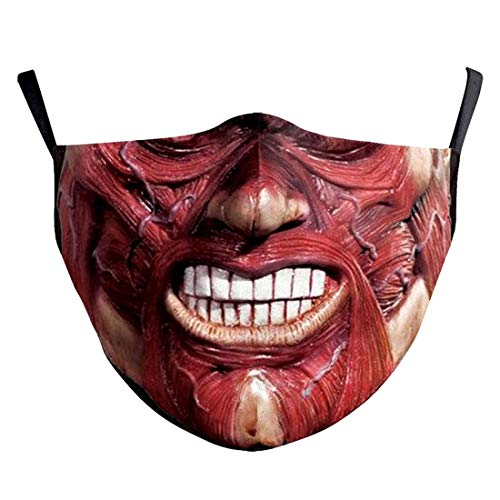 (H) おもしろマスク 面白い 変顔マスク 洗える 布 大人用 Mサイズ 人体模型 ゾンビ 皮膚 巨人 変装 ハロウィン 仮装 被り物 コスプレ 衣装 パーティーグッズ おもしろ雑貨