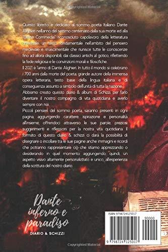 Dante inferno e paradiso - Diario & Schizzi: con i pensieri del sommo poeta Dante Alighieri