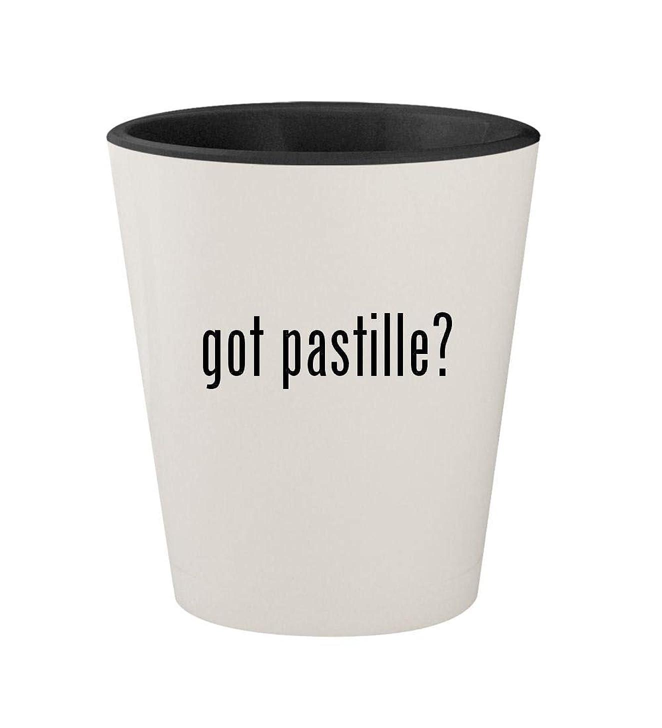 got pastille? - Ceramic White Outer & Black Inner 1.5oz Shot Glass