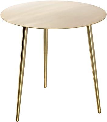 Haku Möbel Table d'appoint, Acier, Or, Ø 45 x 45 cm
