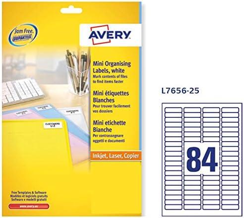 Avery J8/Mini Labels 46 x 11.1 Bianco
