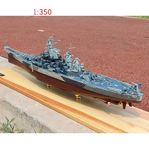 WW II Simulación Navío Modelo,1 350 Escala Rey Jorge V-Clase Modeloo De Plástico Warcraft,Montar El Modelo De Barco 1/350 Missouri 72 X 10 X 18cm