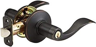 Master Lock WL0112P Wave Lever Keyed Entry Door Lock, Aged Bronze