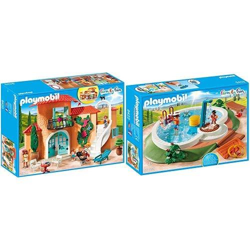 Playmobil 9420 - Sonnige Ferienvilla Spiel &  9422 - Swimmingpool Spiel