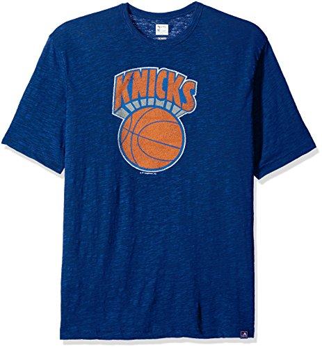 NBA New York Knicks - Camiseta básica de Manga Corta para Hombre (1979-80), Talla pequeña, Color Azul