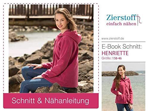 Zierstoff einfach nähen Schnittmuster, Jacke, Wendejacke Henriette, Gr. 158 bis Damengr. 46 - digitaler Inhalt