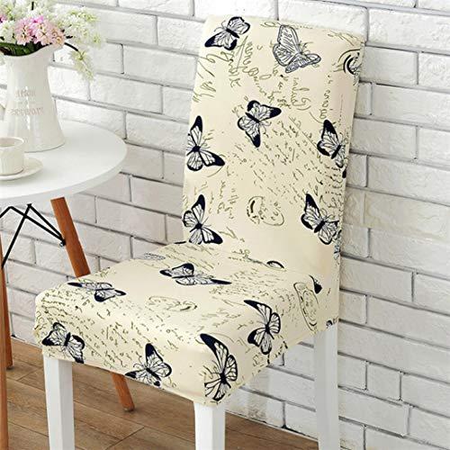 NIKIMI Abnehmbare, waschbare Stuhlhussen mit hoher Elastizität Universal-Spandex-Anti-Staub-Sitzbezug für Bankette