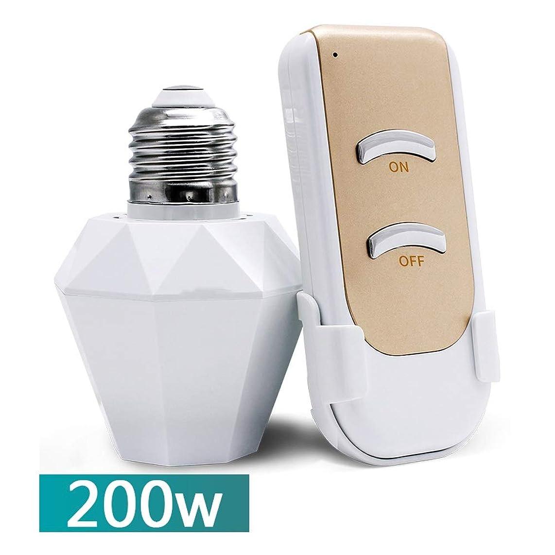 クロス強打有力者ワイヤレスリモコンライトソケット電球ランプホルダーソケットキャップランプスイッチキット、ホワイトアダプターE27 E26スクリューポート標準電球 TZZ (サイズ さいず : Style D)