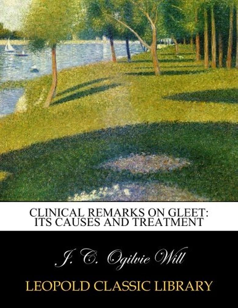 予知マインドフル貨物Clinical remarks on gleet: its causes and treatment