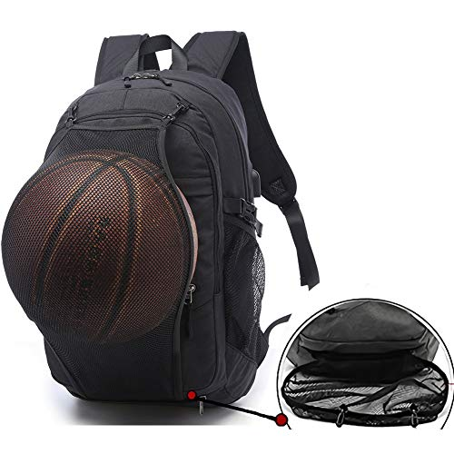 Sports Basketball Backpacks Bags for Laptop, Soccer with Ball Compartment...