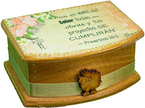 Christian Gifts Handmade Blessings Box Inspirational Faith Based Promise Scripture Bilingual Card Box Women Gift Cajitas de Promesas Regalos Cristianos Decoration Box