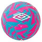UMBRO Futsal Coupe Ballon Football, Rose (Pink Glo)/Bleu (Diva Blue)/Blanc, 4