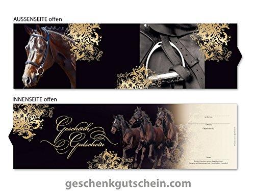 10 Stk. Premium Booklet Gutscheine für Reitsport, Reitsportbedarf, Pferdesport SP705, LIEFERZEIT 2 bis 4 Werktage !