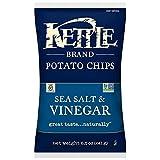 Kettle Brand Potato Chips, Sea Salt and Vinegar, 8.5 Ounce Bags (Pack of 12)