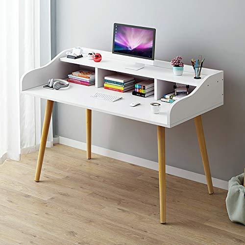 LiChaoWen Escritorio de estudio de oficina, escritorio de estudio, escritorio de estudio, escritorio de trabajo, escritorio de oficina (color: blanco, tamaño: 120 x 50 x 93 cm)