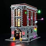 BRIKSMAX Kit de Iluminación Led para Lego Ghostbusters Firehouse Headquarters,Compatible con Ladrillos de Construcción Lego Modelo 75827, Juego de Legos no Incluido (Versión de Control Remoto)