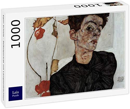 Lais Puzzle Egon Schiele - Selbstporträt mit Lampionfrüchten 1000 Teile