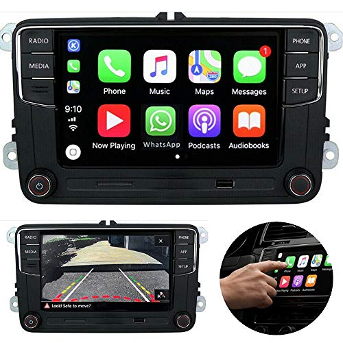 SCUMAXCON 6,5'coche Radio ESTEREO CarPlay MirrorLink Bluetooth para VW Golf, Caddy, Touran, CC