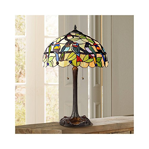 Tropical Birds Robert Louis Tiffany Table Lamp