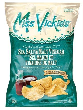 Miss Vickie's Sea Salt & Malt Vinegar 220g {Imported From Canada}