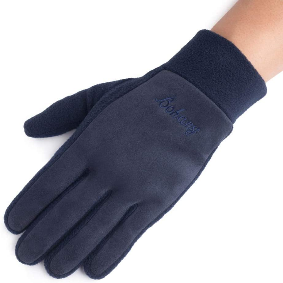 HQSW JL BC Ms. Touch Gloves Autumn and Winter Outdoor Riding Plus Velvet Warm Cold A+++ (Color : A)