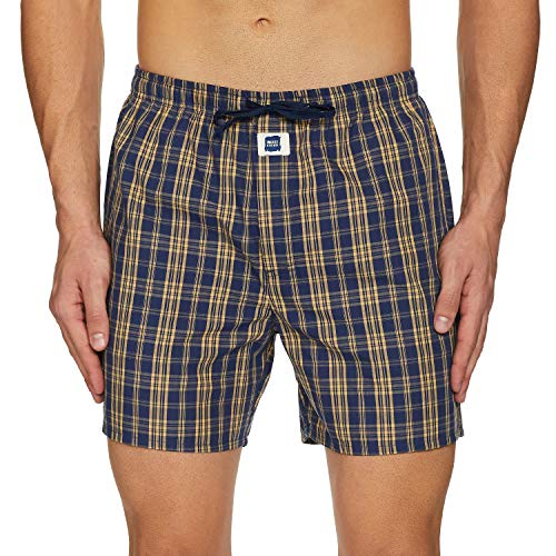 Amazon Brand - Inkast Denim Co. Men's Checkered Boxers (IKMHBOXCH01_Multicolor-07_Large)