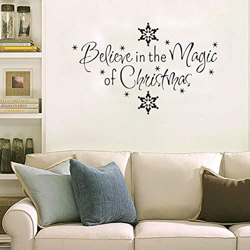 Onlymygod Vinilo decorativo para pared con diseño de copo de nieve, 45 x 51 cm