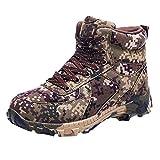 FeiBeauty Wanderschuhe Herren Tarnung Rutschfeste Trekkingschuhe Winter Boots Outdoor Warme...