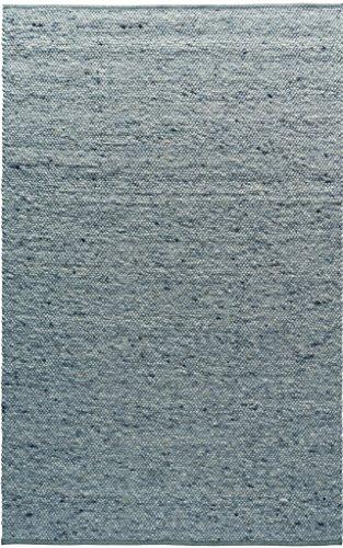 TISCA Teppich aus Schurwolle NEO blau (Verschiedene Größen) 140 x 190 cm
