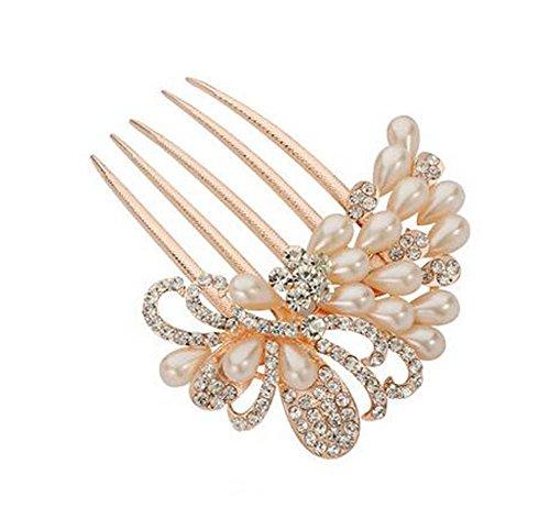 Perle de cheveux en perles de style européen Metal Rhinestones Décoration de cheveux, perles 2