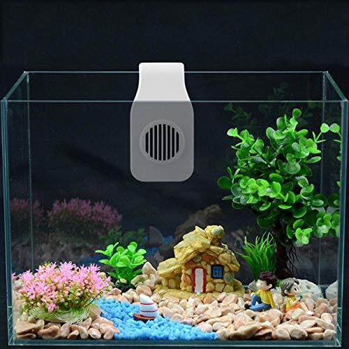Eulbevoli Ventilador de enfriamiento de Tanque de Peces montado en la Pared para Tanques de Peces Refrigeración para Tanques de Peces(White Adjustable)