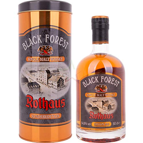 Black Forest Rothaus Single Malt Whisky Madeira Wood Finish 2018 in Tinbox 54,80% 0,50 Liter