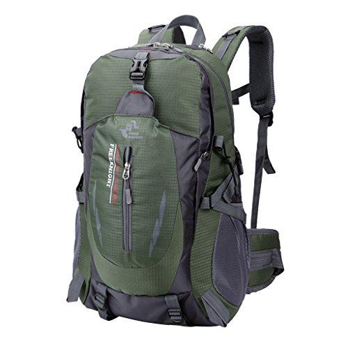 MagiDeal 40L Sac à Dos Sports Voyage Etanche pour Escalade Camping Randonnée Cyclisme Alpinisme (Vert Armée)