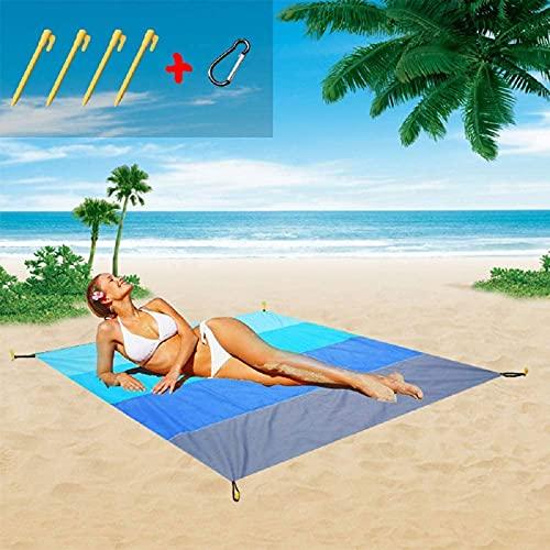 CHENNA Mat de Playa Extra Grande Alfombrilla de Picnic al Aire Libre portátil Impermeable y a Prueba de Humedad, fácil de Transportar y Limpiar (Color Degradado)