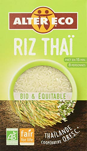 Alter Eco Riz Thaï Blanc Jasmin Bio et Equitable 500 g