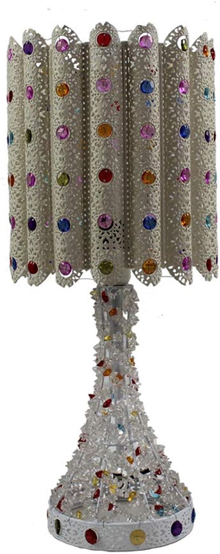 Beleuchtung Innenbeleuchtung Tisch- & Stehleuc Tischlampe Beleuchtung Für Zuhause Farbe Dekorative Tischlampe Nachttischlampe Hollow Creative E14 Lichtquelle (Farbe   Wei-20cm47cm)