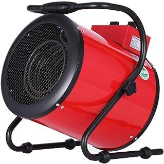 XGGYO 3KW Calefactor Industrial-3 funciones ajustables, protección contra sobrecalentamiento, se adapta perfectamente a talleres, garajes, oficinas y en el hogar/Rojo