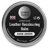 Faded & Worn Leather Dye Colour Restorer Sofa Chair Bag Repair Balm 50ml (Dark Green)