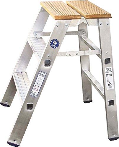 ILLER-LEITER Geis&Knoblauch Montagetritt/Gipserbock 57702 einseitig,2Stufen Sprossenleiter 4039665016121