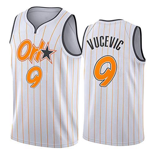 Orlando Magic 9# Nikola Vucevic - Camiseta de baloncesto para hombre, chaleco para niños 2021 Swingman edición de la ciudad blanca camisetas de baloncesto para jóvenes (S-XXL) S