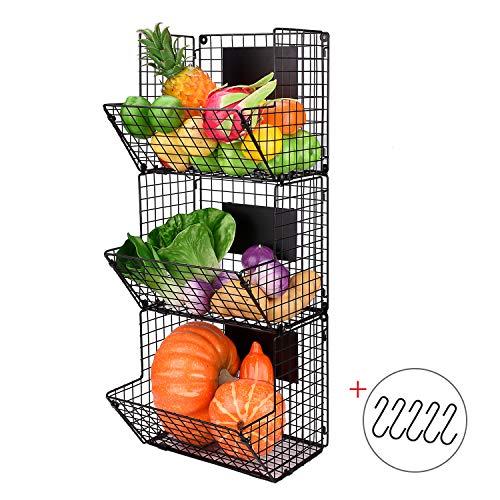 wire basket kitchen organizer - 1